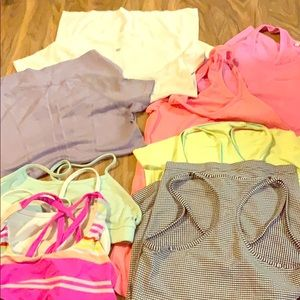 Lululemon bundle sports bra run tank top shirt
